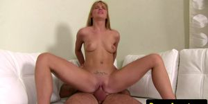 Teen cute blonde has sex for the first time