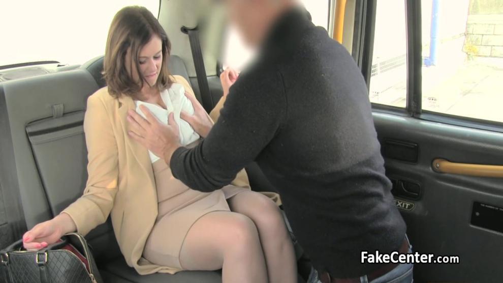 Nylon stocks chubby slut fucked in taxi